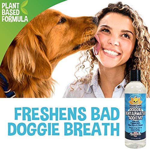 New Premium Dog Breath Freshener Water Additive for Dental Care | Supports Healthy Teeth and Gums | Best for Bad Breath Treatment, Tartar Remover, Plaque Remover | No Brush Required