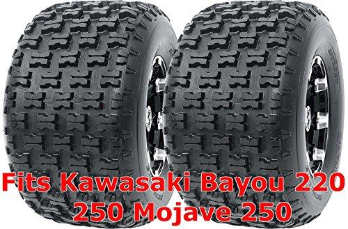 Set 2 WANDA Sport ATV Tires 22x10-10 fit for Kawasaki Bayou 220 250 Mojave 250 Rear P336