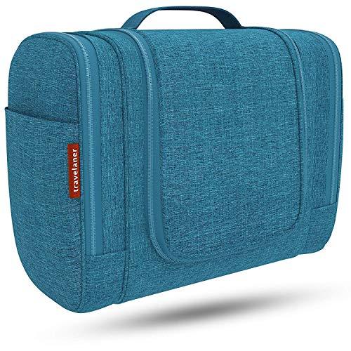 Kulturbeutel [DESIGN 2020] Kulturtasche zum Aufhängen für Damen, Herren & Kinder, Große Kosmetiktasche 7 Liter Stauraum, Waschtasche für Männer & Frauen, Waschbeutel in Premium-Qualität (blau)