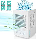 Evaporative Air Cooler Battery Operated Personal Air Conditioner for Room Office Table Outdoor- Auto Oscillation 700ml Water Tank