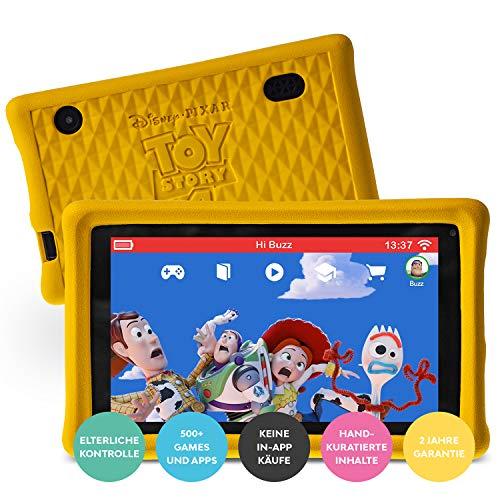 "Pebble Gear Disney Kinder Tablet 7"" Pixar Toy Story 4 Kids Tablet pad mit kindgerechter Hülle / stoßfester Bumper, elterliche Kontrolle, Blaulichtfilter, 500+ Spiele, Apps und E-Books, Wi-Fi, 16 GB"