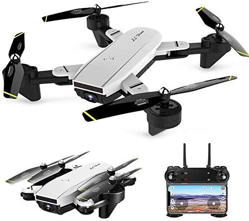 Droni RC Drone FPV Drone con Telecamera grandangolare Regolabile 4K HD 2.4GHz 4CH 6 Assi 6 giroscopio Telecomando Quadcopter FPV WiFi Drone Pieghevole con Follow Me modalit Senza Testa Lungo t