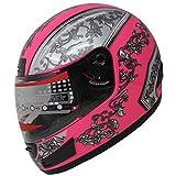 Motorcycle Street Sport Bike Helmet Full Face Helmet F98 (142 Pink, M)