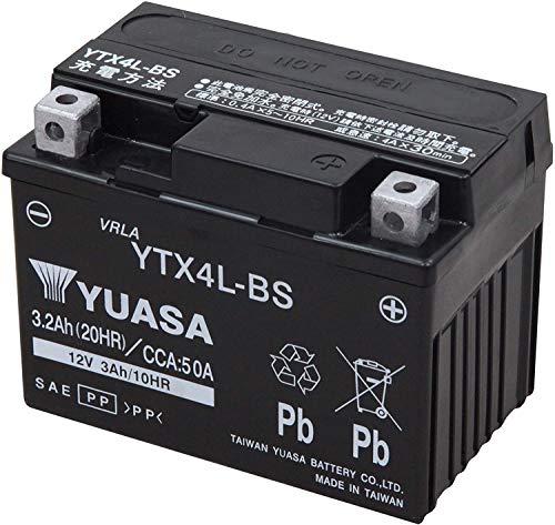 TAIWAN YUASA BATTERY ユアサ YTX4L-BS互換 バイク用 バッテリー 国内液入り 充電済み