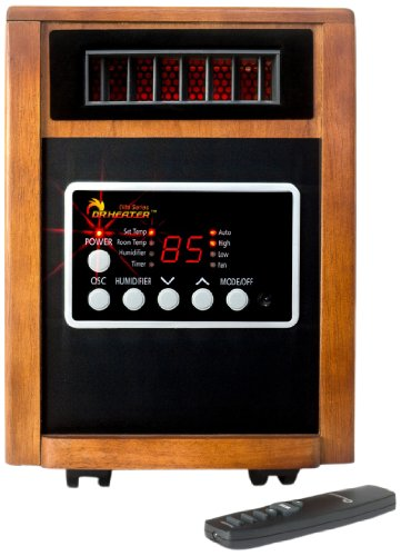 Dr Infrared Heater DR998, 1500W, Advanced Dual Heating System with Humidifier and Oscillation Fan and Remote Control