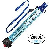DeFe Filtre Eau Personnel 2000L Système de Filtration d'Eau Élimine 99,9% des...