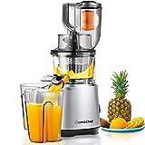 Juicer Machines AMZCHEF Slow Juicer Slow Masticating Juicer Cold Press Juicer Vegetable&Fruit Extractor Reverse Function Quiet 76mm Feed Chute|Juice Jug&Brush BPA-Free