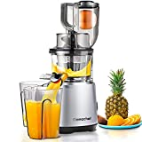 AMZCHEF Slow Juicer Slow Masticating Juicer Cold Press Juicer Vegetable&Fruit Extractor Juicer Machine Vertical Reverse Function Quiet Motor Big Feed Chute|Juice Jug&Brush BPA-Free 56RPM