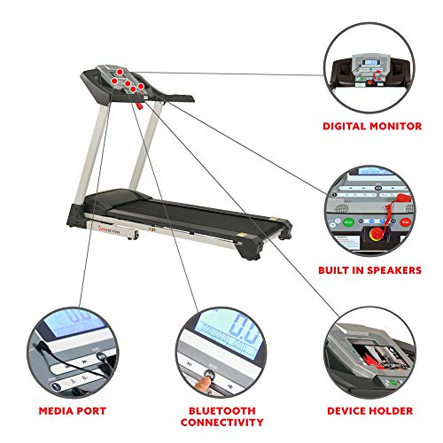 Sunny Health & Fitness SF-T7515 Smart Treadmill with Auto Incline, Sound System, Bluetooth and Phone Function 6