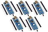 TECNOIOT 5pcs Arduino Nano V3.0 Controller Board Atmega328P Compatible Arduino...