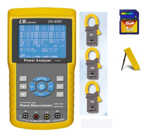 DW-6093 3 Phase Power Analyzer Tester Real-time Data logger