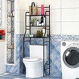 Etagère de Salle de Bain, Meuble de Rangement Au-Dessus des Toilettes WC...