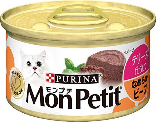 モンプチ 缶 成猫用 テリーヌ仕立て なめらかビーフ 85g×24缶入り (ケース販売) [キャットフード]