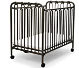 The Kingston Mini Wrought Iron Folding Crib - Vintage Gold