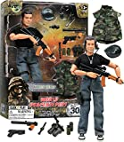 Click N' Play Military Green Beret Elite Swat Unit 12' Action Figure Play Set with Accessories