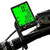 Cycle Computer, Bike Odometer Speedometer for Bicycle, Waterproof LCD Automatic Wake-up Backlight Motion Sensor for Biking Cycling Accessories