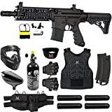 Maddog Tippmann TMC MAGFED Protective HPA Paintball Gun Starter Package -Black