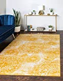 Unique Loom Sofia Collection Area Traditional Vintage Rug, French Inspired Perfect for All Home Décor, 5' 0 x 8' 0 Rectangular, Yellow/Ivory