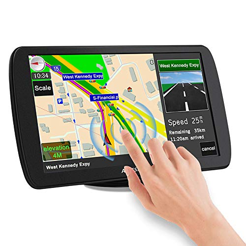 Sat Nav, 9 inch Truck Satnav 2021 Europe UK Ireland Maps GPS Navigation for Car Truck Lorry HGV Caravan Motorhome, Sat Navs for Cars UK Postcodes, Speed Camera Alerts & POI Lane Assist