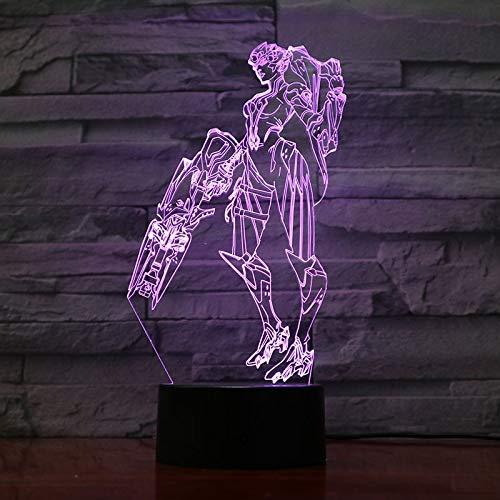 Game Overwatch Lampada da tavolo a luce notturna per bambini Usb Jesse Mccree Figura Decorazione...