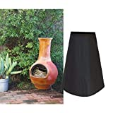 HERSENT Outdoor Patio Chiminea Cover Waterproof Protective Chimney Fire Pit Heater Cover for Outdoor Garden Backyard HZC69