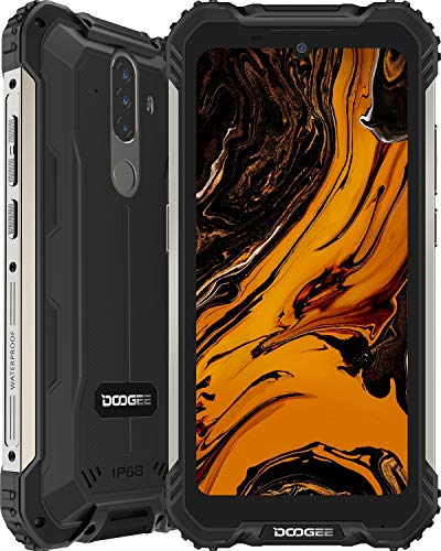 Rugged Smartphone, DOOGEE S58 Pro (2020) Android 10, 6GB+ 64GB/256GB Extension, 16MP + 16MP Triple Cameras, 5180mAh Battery, 5.71 inches HD+, IP68 Waterproof Mobile Phone, 4G Dual SIM, NFC/GPS, Black