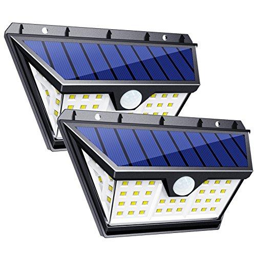 InnoGear Solar Lights Outdoor with Wide Lighting Area Wireless...