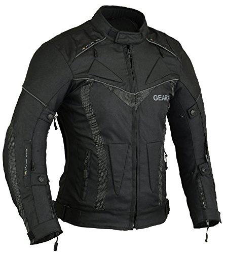 Herren BorneAir Motorradschutzjacke Wasserdicht mit Belüftungsöffnungen, XL