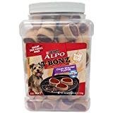 One (1) 40 Ounce Canister of Purina ALPO T-Bonz Filet Mignon Flavor Steak-Shaped Dog Treats Steak-Shaped Dog Treats Great Filet Mignon Flavor For Your Dog To Savor Made With Real Beef Great For Small Dogs Cooked With Pride In The USA. One of Five ALP...