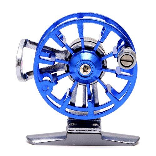 siwetg - Mulinello da Pesca a Mosca, in Metallo, Ultra Leggero, in Alluminio, L50 Blu