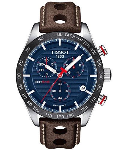 Tissot Herren-Uhren Analog Quarz One Size Leder 87290824