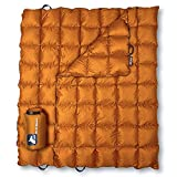 Horizon Hound Down Camping Blanket - Outdoor Lightweight Packable Down Blanket Compact Waterproof and Warm for Camping Hiking Travel - 650 Fill Power (Burnt Orange, 1lb 6oz / 77' x 50')
