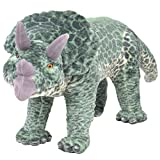 vidaXL Dinosaurio Tricerátop de Peluche de Pie Grande XXL Verde Animal Juguete