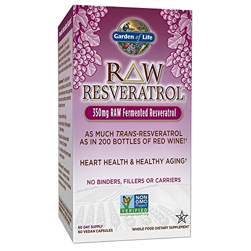 Garden of Life Heart Resveratrol Supplement - Raw Whole Food Antioxidant Formula for Heart Health, 60 Capsules 1