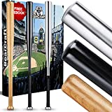 BearCraft Baseballschläger aus Holz oder Aluminium | Mit 79 cm Länge auch zur Selbstverteidigung ideal - Solide verarbeitet (Holz, 79)