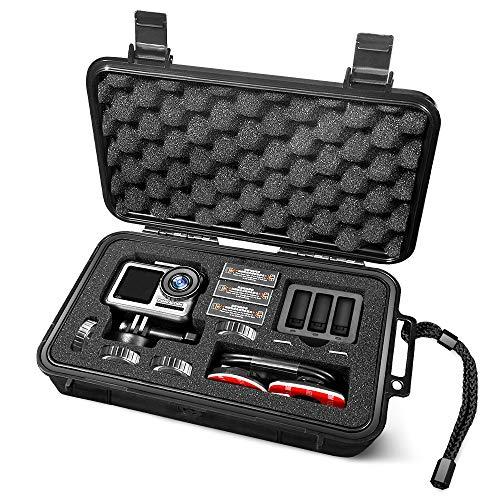 Lekufee Mini Custodia impermeabile per DJI Osmo Action Camera,Osmo Action Battery e accessori