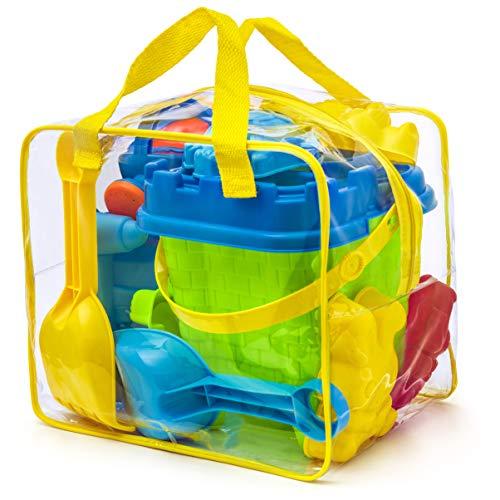 Komplettes Strand Spielzeug Set mit wiederverschließbarer Hülle/Box, Assorted Colours