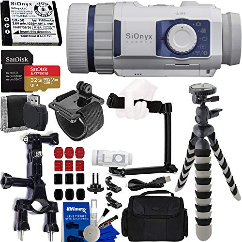SiOnyx Aurora Sport Water-Resistant IR Night Vision Camera with Basic Action Bundle: Bundle...