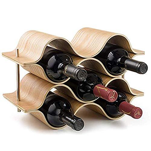 Hyxqy staccabile montato rack Wave champagne rosso vino cantinetta in legno ristorante bar...
