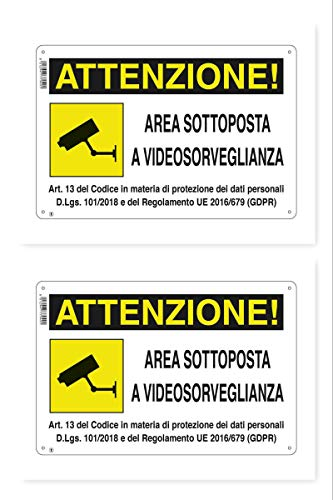 Rótulo de área sujeta a videovigilancia 18 X 12 cm GDPR 'EN PVC (2)