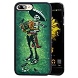 Case for iPhone 7 Plus 8 Plus case Mexican Skeleton Musician Slim Soft and Hard Tire Shockproof Protective Phone Cover Case Slim Hybrid Shockproof Protective Case Anti-Scratch Cushion Bumper with Rein