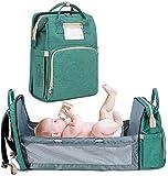 Mochila Cambiador para Bebé Como Cuna con Correas para Cochecito de Gran Capacidad Cambiador, Bolsas de Pañales Impermeables Mochila Bolsa de Bebé Mochila de Viaje para Dormir en Ruta Excursión