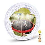 """homenote Misting Cooling System 26.3FT (8M) Misting Line + 7 Brass Mist Nozzles + a Metal Adapter(3/4"""") Outdoor Trampoline Sprinkler Mister Patio Garden Greenhouse for Waterpark"""