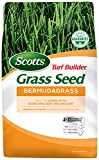 Scotts Turf Builder Grass Seed Bermudagrass, 10 lb. - Full Sun - Built to Stand up to Scorching Heat and Drought - Aggressively Spreads to Grow a Thick, Durable Lawn - Seeds up to 10,000 sq. ft.