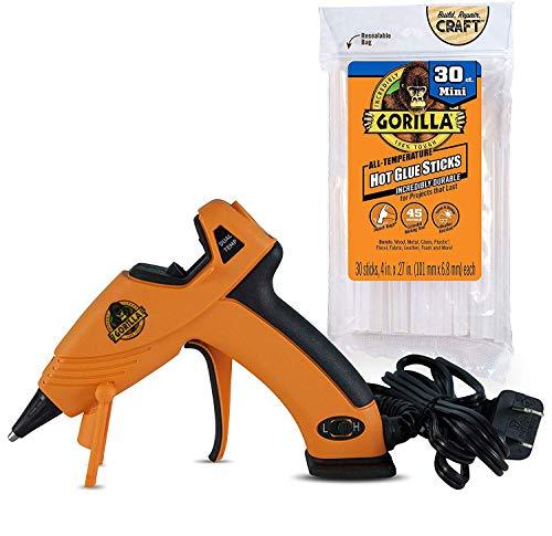 Gorilla Dual Temp Mini Hot Glue Gun Kit with 30...
