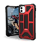 UAG Designed for iPhone 11 [6.1-inch Screen] Monarch Feather-Light Rugged [Crimson] Military Drop Tested iPhone Case