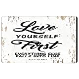 Love Yourself Lucille Ball Motivational Quote - Wall Art Vanity Novelty Sign Home & Office Decor Fun Prank Gift