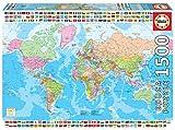 Educa Carte du Monde Politique. Puzzle Adulte 1500 pièces. Ref. 18500