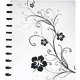 Staples. Arc Customizable Hibiscus Design Notebook System, Black & White, 23cm - 1cm x 28cm - 0.6cm