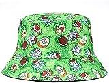 Pescador sombrero del cubo del sombrero unisex de la manera Rick y patrón de dibujos animados Morty plegable algodón mujeres de los hombres del sombrero del cubo Hip Hop Gorra for el sol al aire libre